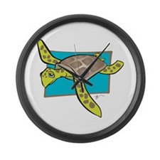 Sea Turtle Collection Large Wall Clock