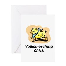 Volksmarching Chick Greeting Card