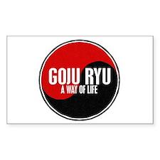GOJU RYU A Way Of Life Yin Yang Decal
