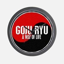 GOJU RYU A Way Of Life Yin Yang Wall Clock