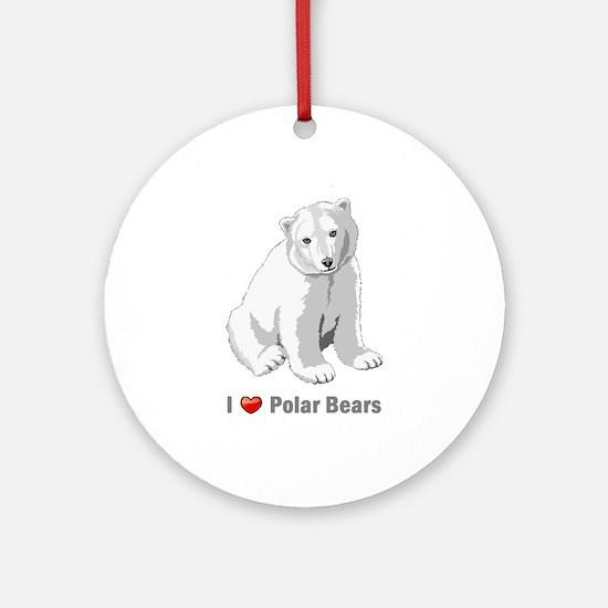 I love polar bears Ornament (Round)