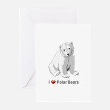 I love polar bears Greeting Cards (Pk of 20)