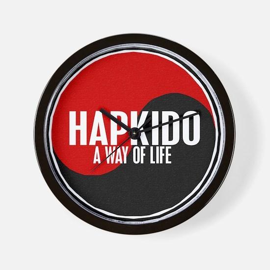 HAPKIDO A Way Of Life Yin Yang Wall Clock