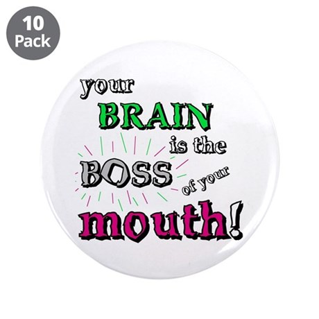 """BOSS OF YOUR MOUTH 3.5"""" Button (10 pack)"""