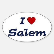 I HEART SALEM Oval Decal