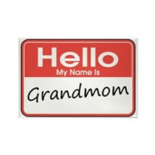 Hello, My name is Grandmom Rectangle Magnet (10 pa
