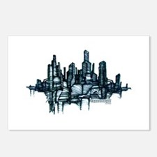 """""""City Sketch"""" Postcards (Package of 8)"""