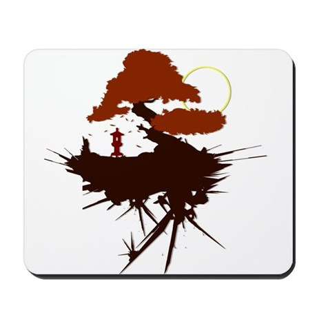 Asian Print Mousepad