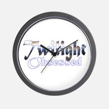 Obsessed by Twilight Books Wall Clock