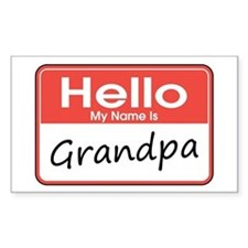 Hello, My name is Grandpa Rectangle Decal
