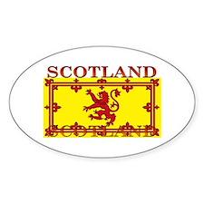 Scotland Scottish Flag Oval Decal