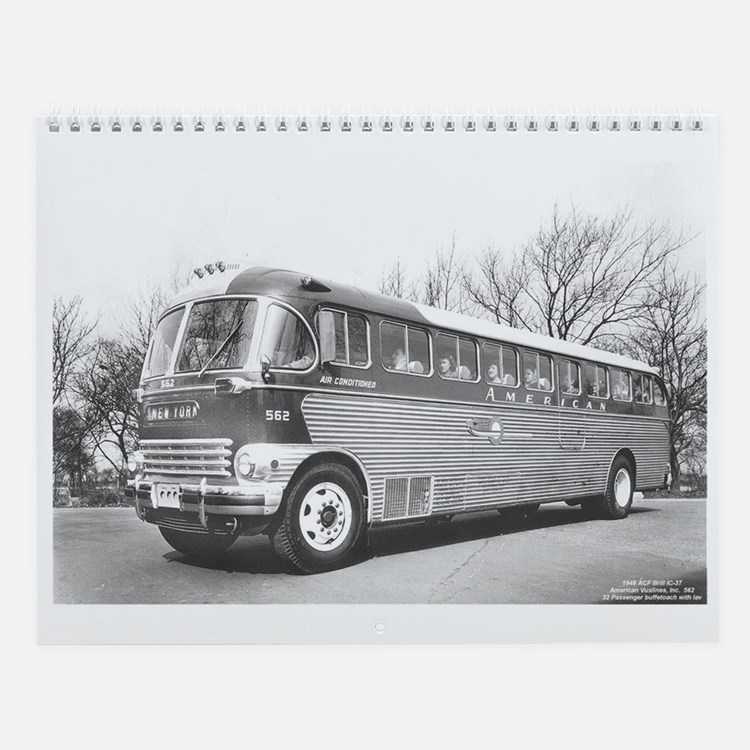 Cute Bus Wall Calendar
