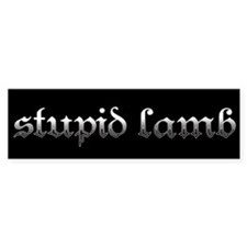 Stupid Lamb Twilight Bumper Bumper Sticker