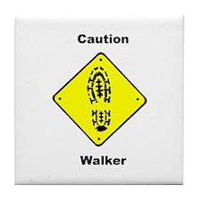 Caution Walker Tile Coaster