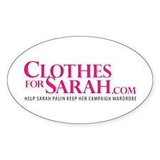 ClothesForSarah.com Oval Decal
