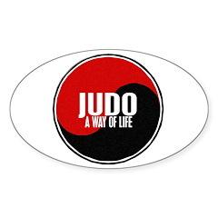 JUDO A Way Of Life Yin Yang Oval Decal