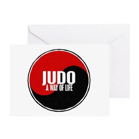 JUDO A Way Of Life Yin Yang Greeting Card