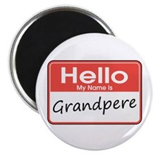 "Hello, My name is Grandpere 2.25"" Magnet (10 pack)"
