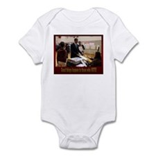 Cute 2008 michelle and obama Infant Bodysuit