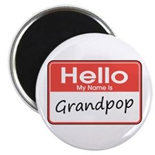 "Hello, My name is Grandpop 2.25"" Magnet (10 pack)"