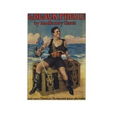 Douglas Fairbanks Black Pirate Rectangle Magnet