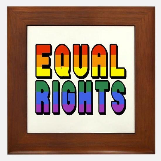 Equal Rights Framed Tile