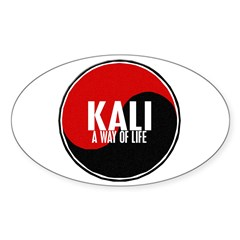 KALI A Way Of Life Yin Yang Oval Sticker (10 pk)
