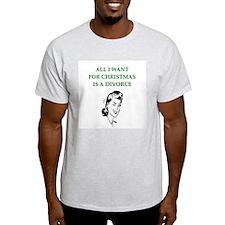 christmas divorce joke gifts T-Shirt
