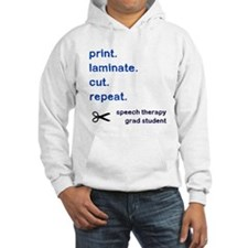 PRINT.LAMINATE.CUT.REPEAT. Hoodie