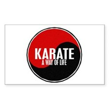 KARATE A Way Of Life Yin Yang Rectangle Decal