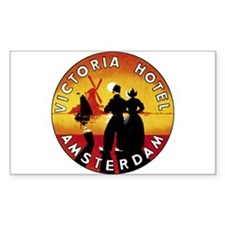 Amsterdam Netherlands Rectangle Decal