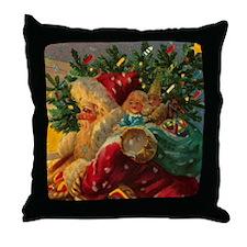 Christmas Santa Claus BIG 18x18 Throw Pillow