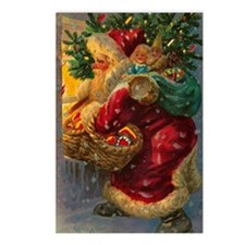 Christmas Santa Claus Postcards (Package of 8)