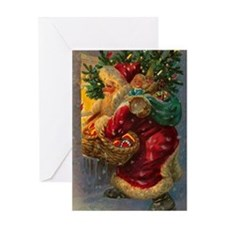 Christmas Santa Claus Greeting Card Blank Inside
