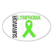 Lymphoma Survivor Oval Sticker (10 pk)
