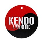 KENDO A Way Of Life Yin Yang Ornament (Round)