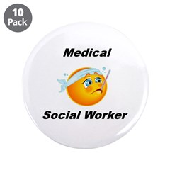 """Medical Social Worker 3.5"""" Button (10 pack)"""