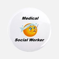 """Medical Social Worker 3.5"""" Button"""