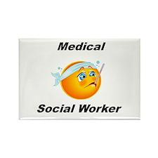 Medical Social Worker Rectangle Magnet