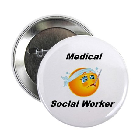 """Medical Social Worker 2.25"""" Button"""