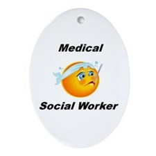 Medical Social Worker Oval Ornament