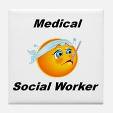 Medical Social Worker Tile Coaster