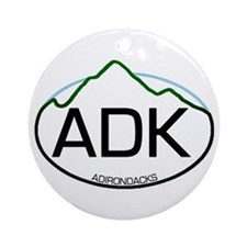 ADK Oval Ornament (Round)