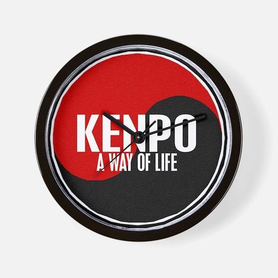 KENPO A Way Of Life Yin Yang Wall Clock