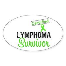 Certified Lymphoma Survivor Oval Sticker (10 pk)