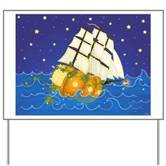 Pumpkin Fairy Ship Yard Sign