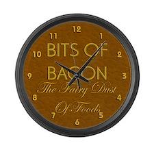 Bits Of Bacon Large Wall Clock