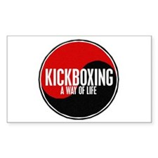 KICKBOXING Way Of Life Yin Yang Decal
