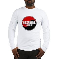 KICKBOXING Way Of Life Yin Yang Long Sleeve T-Shir