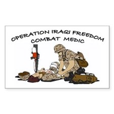 Combat Medic OIF Support Rectangle Decal